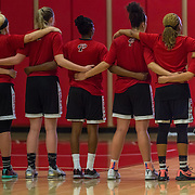November 3, 2016 - Santa Ana, CA - Palomar College Comets lines up in for the national anthem prior to defeating the Santa Ana College Dons  76-61 in their season opener