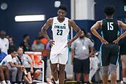 THOUSAND OAKS, CA Sunday, August 12, 2018 - Nike Basketball Academy. Isaiah Stewart 2019 #23 of La Lumiere School rests. <br /> NOTE TO USER: Mandatory Copyright Notice: Photo by Jon Lopez / Nike