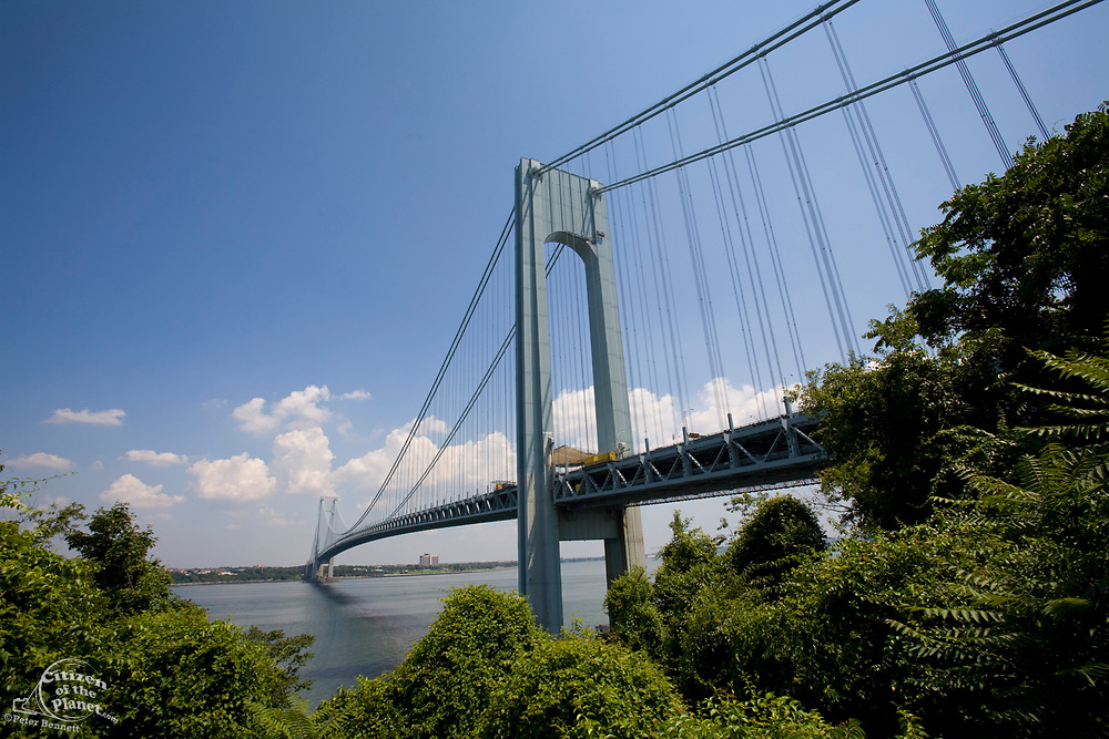 Verrazano Bridge, Gateway National Recreation Area, When it opened in 1964, the Verrazano-Narrows Bridge was the world's longest suspension span. The ends of the bridge are at historic Fort Hamilton in Brooklyn and Fort Wadsworth in Staten Island, both of which guarded New York Harbor at the Narrows for over a century. The bridge was named after Giovanni da Verrazano, who, in 1524, was the first European explorer to sail into New York Harbor.