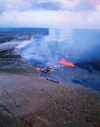 Kilauea Volcano, Hawaii Volcanoes National Park, Island of Hawaii, Hawaii, USA<br />