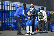 Young supporter fan gets his picture taken during the EFL Sky Bet League 1 match between Portsmouth and Blackpool at Fratton Park, Portsmouth, England on 24 February 2018. Picture by Adam Rivers.