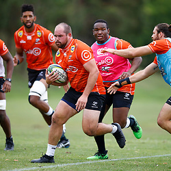 John Hubert Meyer of the Cell C Sharks during the Cell C Sharks training session from theBox Hill Rugby Union Football Club  RHL Sparks Reserve, Canterbury Rd & Middleborough Road, Box Hill VIC 3128. Melbourne,Australia 20 February 2020. (Photo Steve Haag Sports -Hollywoodbets)