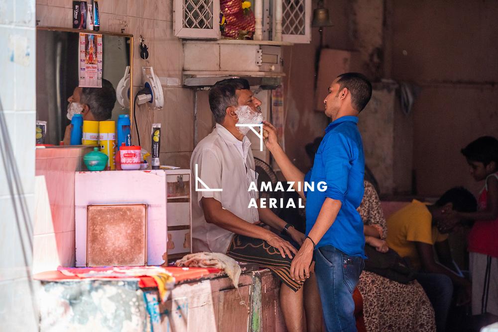 Mumbai, India - 08 April 2019: view of people in the street of Mumbai, India.