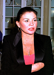 MRS CONSTANTINE NIARCHOS a member of the Greek shipping family,  at a party in London 19th October 1998.MKX 57