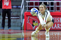 BLOOMINGTON, IL - October 12: Alyssa Kronberg during a college Women's volleyball match between the ISU Redbirds and the Valparaiso Crusaders on October 12 2018 at Illinois State University in Bloomington, IL. (Photo by Alan Look)