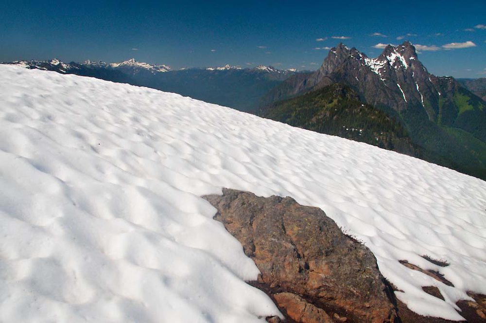 Desolation Peak Snowfield and Hozomeen, North Cascades National Park, Washington, US
