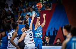 Teja Oblak of Slovenia during basketball match between Women National teams of Italy and Slovenia in Group phase of Women's Eurobasket 2019, on June 30, 2019 in Sports Center Cair, Nis, Serbia. Photo by Vid Ponikvar / Sportida