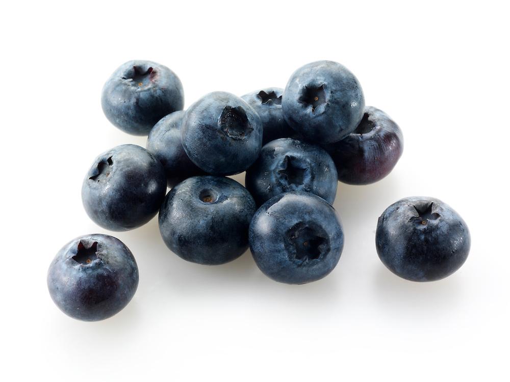 Whole blueberry fruits