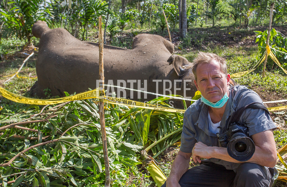 Paul with an elephant killed by poachers