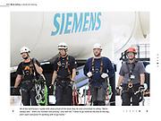 Technicians at a Siemens Wind Training Facility in Orlando Florida