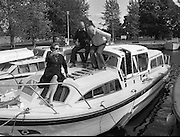 Galway Oyster Festival..1982.09.09.1982.09.09.1982.9th September 1982...The Festival was held on the banks of the Shannon at Portumna Co.,Galway..It was held in the picturesque new marina. The event was sponsored by Guinness. Emerald Star line were also represented..In the Sun At the Galway Oyster Festival sponsored by Guinness these revellers have a great day out.