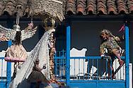 "Feast of ""Mamacha del Carmen"" of Paucartambo. The Mamacha parades and the Saqra the attempt"