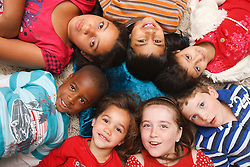 Multiracial group of children