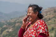 President of the Shree Khanideri Sanokishan Krishi Sanakari Women's Co-operative, Nirmala Tamang, Kakani, Nuwakot District, Nepal
