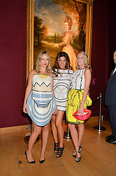 Left to right, MARISSA HERMER, SOPHIE STANBURY and ALICE NAYLOR-LEYLAND at the Tatler & Christie's Art Ball held at Christie's, 7-15 Ryder Street, London on 12th June 2014.