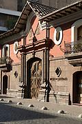 Facade of historical building - Casa Colorada, Santiago, Chile