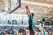 THOUSAND OAKS, CA Sunday, August 12, 2018 - Nike Basketball Academy. Joshua Christopher 2020 #16 of Mayfair HS rises for a dunk. <br /> NOTE TO USER: Mandatory Copyright Notice: Photo by John Lopez / Nike