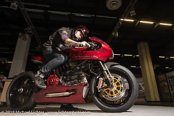 Queen Hung's Endless Sun custom Ducati MH900e 2000 from Taiwan in the AMD World Championship of Custom Bike Building in the Intermot Customized hall during the Intermot International Motorcycle Fair. Cologne, Germany. Sunday October 7, 2018. Photography ©2018 Michael Lichter.