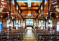 Interior da Igreja Matriz. São João do Oeste, Santa Catarina, Brasil. / Interior of Mother Church. Sao Joao do Oeste, Santa Catarina, Brazil.