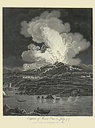 Eruption of Mount Etna in July 1787 Copperplate engraving From the Encyclopaedia Londinensis or, Universal dictionary of arts, sciences, and literature; Volume VII;  Edited by Wilkes, John. Published in London in 1810