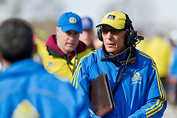 2013 Boston Marathon: race official at start