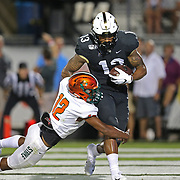 ORLANDO, FL - AUGUST 29: Gabriel Davis #13 of the UCF Knights scores a touchdown in front of Kortney Cox #12 of the Florida A&M Rattlers during a NCAA football game on August 29 2019 in Orlando, Florida. (Photo by Alex Menendez/Getty Images) *** Local Caption *** Gabriel Davis; Kortney Cox