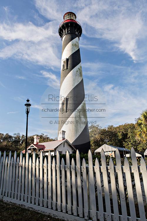 St. Augustine Lighthouse on Anastasia Island in St Augustine, Florida.