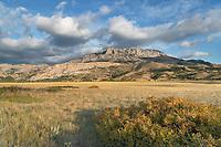 Castle Reef Mountain. Rocky Mountain front ranges near Augusta Montana