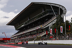 May 13, 2018 - Barcelona, Catalonia, Spain - 16 Charles Leclerc Monaco with Alfa Romeo Sauber F1 Team C37 in front of 11 Sergio Perez from Mexico with Force India F1 VJM11 during the Spanish Formula One Grand Prix at Circuit de Catalunya on May 13, 2018 in Montmelo, Spain. (Credit Image: © Xavier Bonilla/NurPhoto via ZUMA Press)