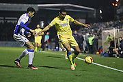 AFC Wimbledon defender Darius Charles (32) in action during the EFL Sky Bet League 1 match between Bristol Rovers and AFC Wimbledon at the Memorial Stadium, Bristol, England on 31 December 2016. Photo by Stuart Butcher.