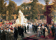 Unveiling of the Memorial to Richard Wagner in Berlin painted by Anton von Werner (1843-1915