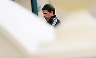 Wales National football Team Manager, Chris Coleman pictured after he signs a new extension to his contract at a FAW press conference at the  Vale Resort Hotel in Hensol, South Wales on Monday 23rd May 2016.<br /> pic by Andrew Orchard, Andrew Orchard sports photography.