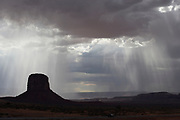 Storm in Monument Valley, Navajo Tribal Park, Utah-Arizona border
