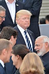 July 7, 2017 - Hamburg, Germany - Justin Trudeau, Donald Trump, Narendra Modi.G20 SUMMIT: Reception and concert at Elbphilharmonie, Hamburg, Germany - 07 Jul 2017.Credit: Timm/face to face (Credit Image: © face to face via ZUMA Press)
