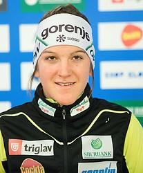 Lea Einfalt during official presentation of the outfits of the Slovenian Ski Teams before new season 2015/16, on October 6, 2015 in Kulinarika Jezersek, Sora, Slovenia. Photo by Vid Ponikvar / Sportida