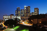 Downtown Los Angeles City Skyline at Dusk