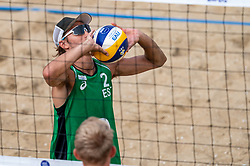 Timo Ander Lohmus (2) of Estonia in action during CEV Continental Cup Final Day 1 - Women on June 23, 2021 in The Hague