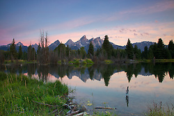 """Shwabackers Landing Sunrise at the beaver pond in Grand Teton National Park<br /> <br /> For production prints or stock photos click the Purchase Print/License Photo Button in upper Right; for Fine Art """"Custom Prints"""" contact Daryl - 208-709-3250 or dh@greater-yellowstone.com"""