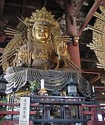 Japan, Honshu, Nara, Todai-Ji Temple Great Buddha Statue in the great Buddha hall