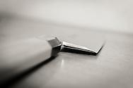 A honyaki deba knife.<br /> Knives by Yoshikazu Ikeda Forged Knife Master Craftsman, Sakai, Osaka Prefecture, Japan