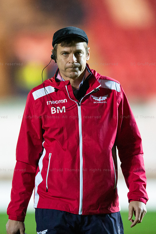 26.12.19 - Scarlets v Ospreys - Guinness PRO14 - Scarlets head coach Brad Mooar before the match