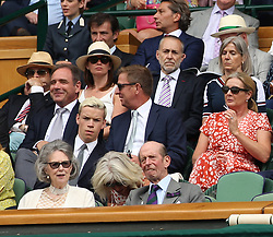 LONDON, ENGLAND - JULY 04: Will Poulter attend day three of the Wimbledon Tennis Championships at the All England Lawn Tennis and Croquet Club on July 4, 2018 in London, England..People:  Will Poulter (Credit Image: © SMG via ZUMA Wire)