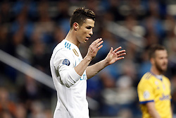 Cristiano Ronaldo of Real Madrid during the UEFA Champions League quarter final match between Real Madrid and Juventus FC at the Santiago Bernabeu stadium on April 11, 2018 in Madrid, Spain