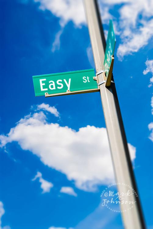 Sign for Easy Street