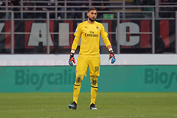 March 2, 2019 - Milan, Milan, Italy - Gianluigi Donnarumma #99 of AC Milan during the serie A match between AC Milan and US Sassuolo at Stadio Giuseppe Meazza on March 02, 2019 in Milan, Italy. (Credit Image: © Giuseppe Cottini/NurPhoto via ZUMA Press)