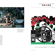 """Tearsheet of """"Mali: Battle for Diabaly"""" published in Courrier Internacional"""