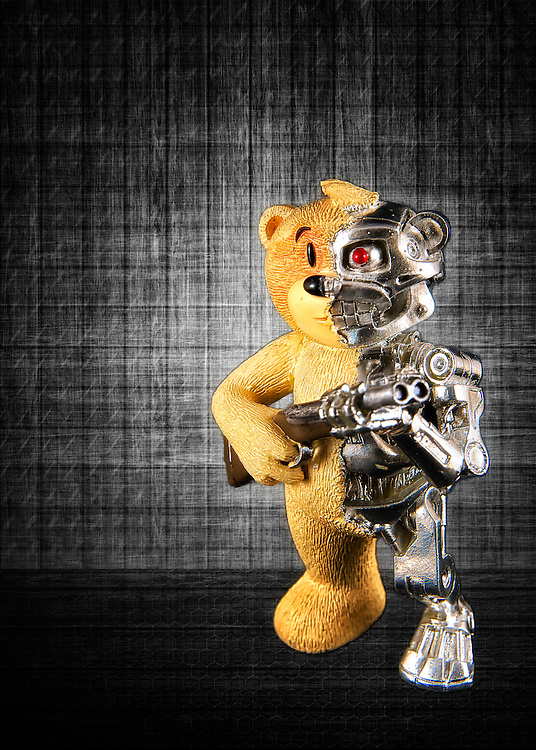 Terminator Teddy Bear has turned to desperate measures to defend himself.