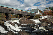 At over 370' long, the Bath Bridge is New Hampshire's longest covered bridge