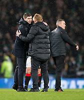 Football - 2019 Betfred Scottish League Cup Final - Celtic vs. Rangers<br /> <br /> Rangers manager Steven Gerrard and Celtic manager Neil Lennon at full time, Hampden Park Glasgow.<br /> <br /> COLORSPORT/BRUCE WHITE