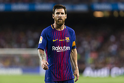 August 20, 2017 - Barcelona, Catalonia, Spain - Lionel Messi of FC Barcelona during the match between FC Barcelona vs Real Betis Balompie, for the round 1 of the Liga Santander, played at Camp Nou Stadium on 20th August 2017 in Barcelona, Spain. (Credit Image: © Urbanandsport/NurPhoto via ZUMA Press)